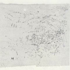 Lothringische Landschaft, Tusche auf Papier, 1959