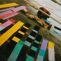 Bildsegler, Messe München, Installation und Aufbau