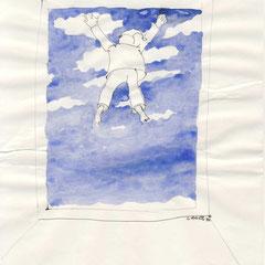 Die Deutschen haben auch die besten Wolken, colorierteZeichnung 2, 1970