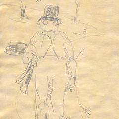 Bauer Sonntags auf dem Felde, Auersmacher 1958