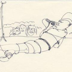 Love Song 4, Kugelschreiber auf Papier, 1976