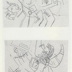 Markttage 4-5, Bleistifzeichnungen, 1965-66