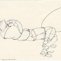 Love Song 3, Kugelschreiber auf Papier, 1976
