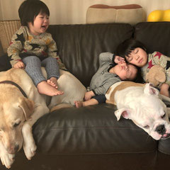 伊藤家の子どもたち。