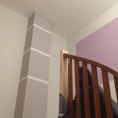 Dekorative Gestaltung im Treppenhaus