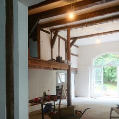 Deele als Wohnzimmer in einem sanierten Bauernhaus