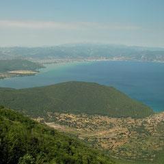 Uitzicht richting Albanië.