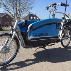 Gazelle Cabby Bakfiets met ombouwset Voorwielmotor van FONebike
