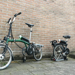 Brompton vouwfiets met Pendix eDrive middenmotor ombouwset van FONebike Arnhem
