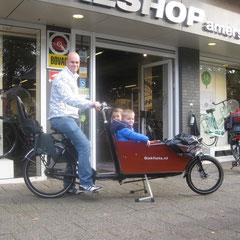 Bakfiets.nl Cargo Long Bakfiets met ombouwset Middenmotor met Bafang BBS01B van FONebike