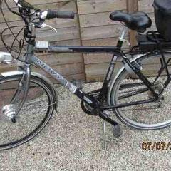 Novy fiets met ombouwset voorwiel motor  van FON