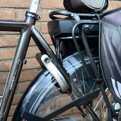 Gazelle Mudeo Plus met ombouwset middenmotor motor van FONebike Arnhem Fiets Ombouwcentrum Nederland