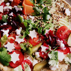 Falafel Pizza
