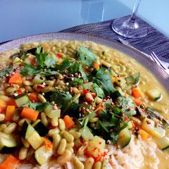 Gelbes Curry (vegan)