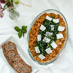 Green Couscous mit Tofu