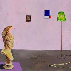 Der Held, Acrylic on canvas, 40x40 cm, 2020