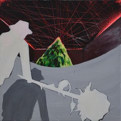 Godot, Acrylic on canvas, 40x40 cm, 2014