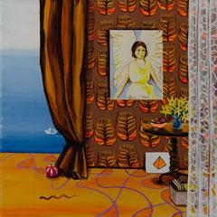 Die Ernte, Acrylic on canvas, 40x40 cm, 2019