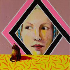 Goldig, Acrylic on canvas, 30x30cm, 2020