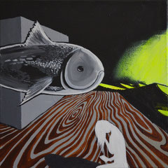 Aneinander vorbei, Acrylic on canvas, 50x50 cm, 2014