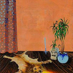 Loser, Acrylic on canvas, 40x40 cm, 2020