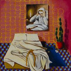 Die Betten, Acrylic on canvas, 40x40 cm, 2018