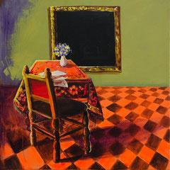 Das zimmer, Acrylic on canvas, 40x40 cm, 2016
