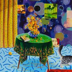 Halbtraum, Acrylic on canvas, 160x140 cm, 2020