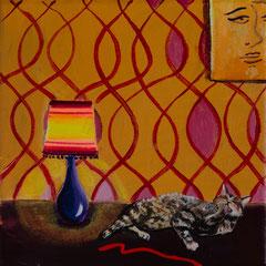 Satt, Acrylic on canvas, 20x20cm, 2020