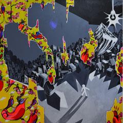 Realitätstheorie, Acrylic on canvas, 185x185 cm, 2014-2015
