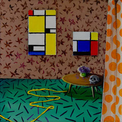 Goldrausch, Acrylic on canvas, 30x30cm, 2020