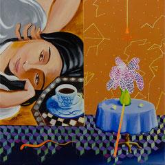 Lorette, Acrylic on canvas, 40x40 cm, 2020