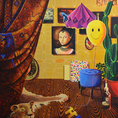 Happy, Acrylic on canvas, 165 x 145 cm, 2018