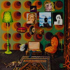 Das grüne Licht, Acrylic on canvas, 50x50 cm, 2019