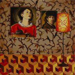 Oben, Acrylic on canvas, 40x40 cm, 2018