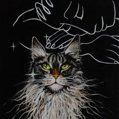 Im Wind, Acrylic on canvas, 30x30 cm, 2019