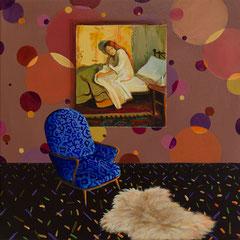 Feuer, Acrylic on canvas, 40x40 cm, 2018
