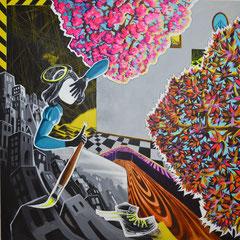 Ade Allee!, Acrylic on canvas, 185x185 cm, 2014-2015