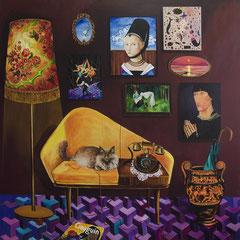 Wolle!, Acrylic on canvas, 185x185cm, 2017