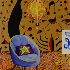 Punkt,Acrylic on canvas, 40x25cm, 2020