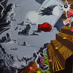 Think Pink!, Acrylic on canvas, 185x165 cm, 2014-2015
