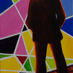 Michael, Acrylic on canvas, 40x25 cm, 2016