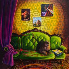 Simson in Dir, Acrylic on canvas, 165x165 cm, 2016