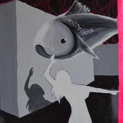 Blind, Acrylic on canvas, 50x40 cm, 2014