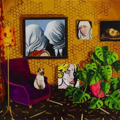 Der Kuss, Acrylic on canvas, 40x50 cm, 2018