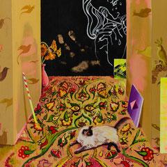 Angst Keine, Acrylic on canvas, 40x40 cm, 2019