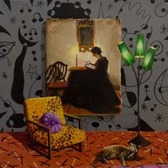 Die Frau, Acrylic on canvas, 40x40 cm, 2018