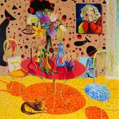 #selberschuld, Acrylic on canvas, 160x150 cm, 2020