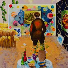 Der Skeptiker, Acrylic on canvas, 40x40 cm, 2019