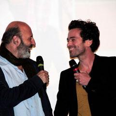 """Cédric Klapisch et Romain Duris - Avant-Première du film """"Casse Tête Chinois"""" - Lyon - Nov 2013 - Photo © Anik COUBLE"""